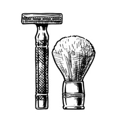 shaving accessories vector image