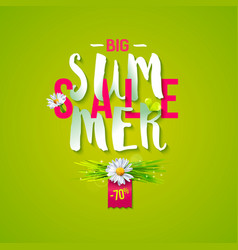 summer sale emblem vector image