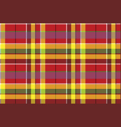 Summer seamless pattern madras check fabric vector