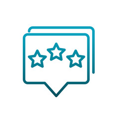 talk bubble rating stars communications gradient vector image