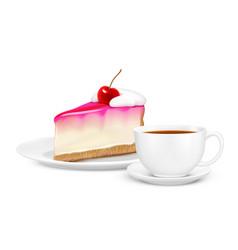 tea realistic composition vector image