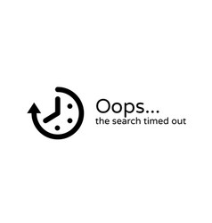 timeout error time out icon background vector image