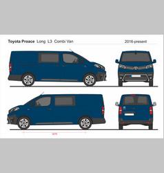 Toyota proace combi long van l3 2016-present vector