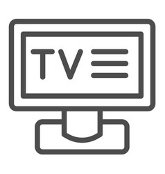 tv line icon television vector image