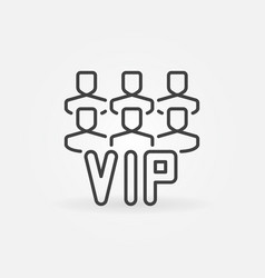 Vip people outline icon or symbol vector