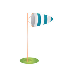 White blue windsock for measurement direction and vector