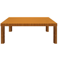 Wooden table on white background vector