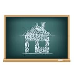 board house sketch vector image