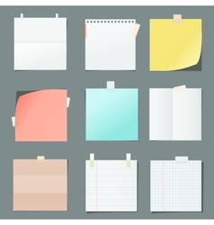 color paper sheets vector image vector image