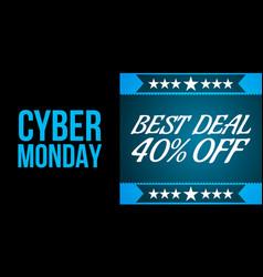 cyder monday shopping sale concept vector image