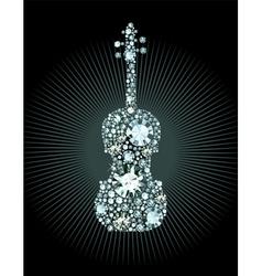 Diamond Violin vector image vector image