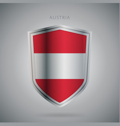 europe flags series austria modern icon vector image vector image