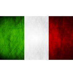 Grunge Italian flag vector image vector image