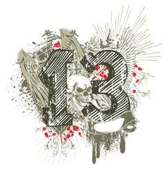 grunge t-shirt design vector image vector image