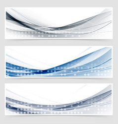 modern dotted wave header collection vector image
