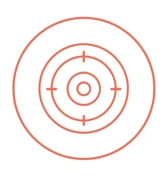 Target board line icon vector image