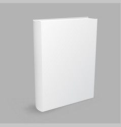 white book gray background vector image vector image