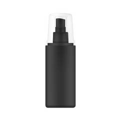black spray bottle with transparent cap vector image