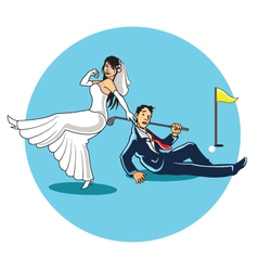 Get Married to Golfer vector image vector image