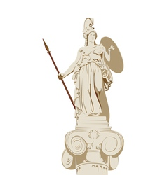 Greek statue of Athena vector image