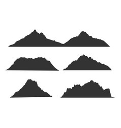mountains black silhouettes for outdoor design or vector image vector image