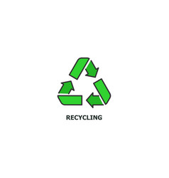 recycling concept icon in line design flat vector image vector image