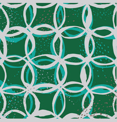 seamless pattern design with sketchy circles vector image vector image