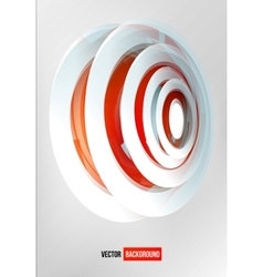 circles abstract logo Red and white vector image