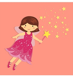 Cute Little Pink Fairy vector image