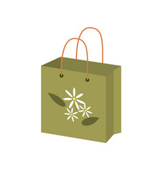 eco-friendly paper package vector image