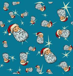 Head santa claus christmas seamless background vector