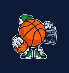 street basketball vector image vector image