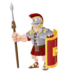 Strong roman soldier vector
