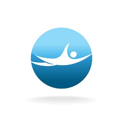 Swimming man sign Pool or beach logo concept vector image vector image