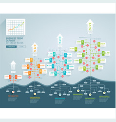 business tree timeline infographics vector image vector image