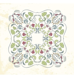 Ornamental mandala background vector image vector image