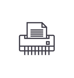 paper shredderoffice printer line icon vector image vector image