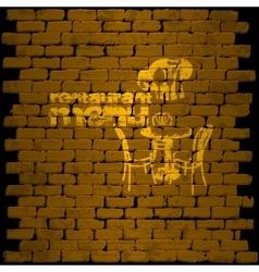 restaurant menu template on a brick wall uno vector image