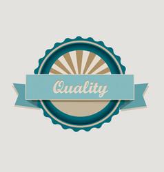 Retro quality label vector image