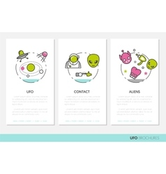UFO and Space Business Brochures Template vector image vector image