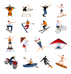 1608i123016Pm004c23extreme sports people flat vector