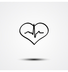 Abstract heart and ecg vector image