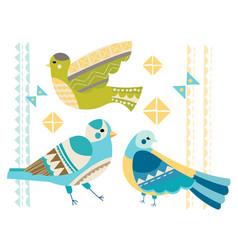 Abstract set of birds vector