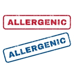 Allergenic Rubber Stamps vector