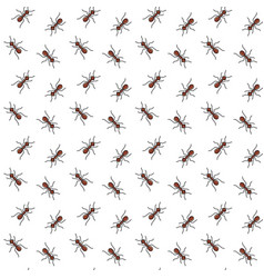 ants seamless pattern for textile design wallpaper vector image
