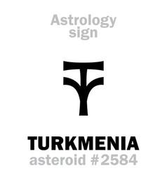 Astrology asteroid turkmenia vector