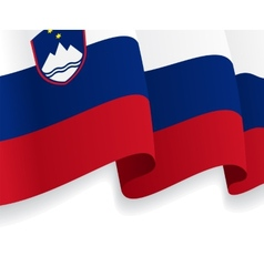 Background with waving Slovenian Flag vector