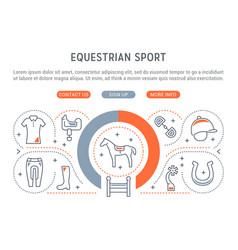 Banner equestrian sport vector