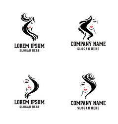 beauty woman face logo vector image