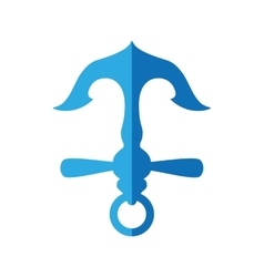 Blue Anchor icon Sea lifestyle design vector image
